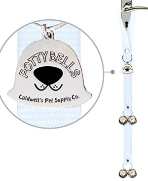 S PoochieBells The Original Handcrafted Dog Potty Bell For Happy Dog Owners Since 2005; Solid Color Home Fashion Collection; PoochieBells Lets Your Dog Talk to You at Potty Time;  Step by Step Guide Included on How Your Dog Will Train Their Human Included